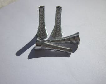 4 long (7) metal caps
