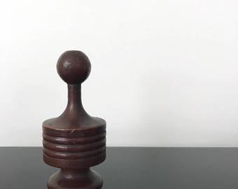 Vintage Mid Century Turned Wood Finial