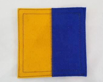 Nautical signal flag letter k wool felt coaster
