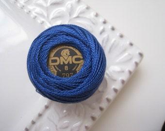 DMC 797 Royal Blue Perle Cotton Thread Ball Size 8