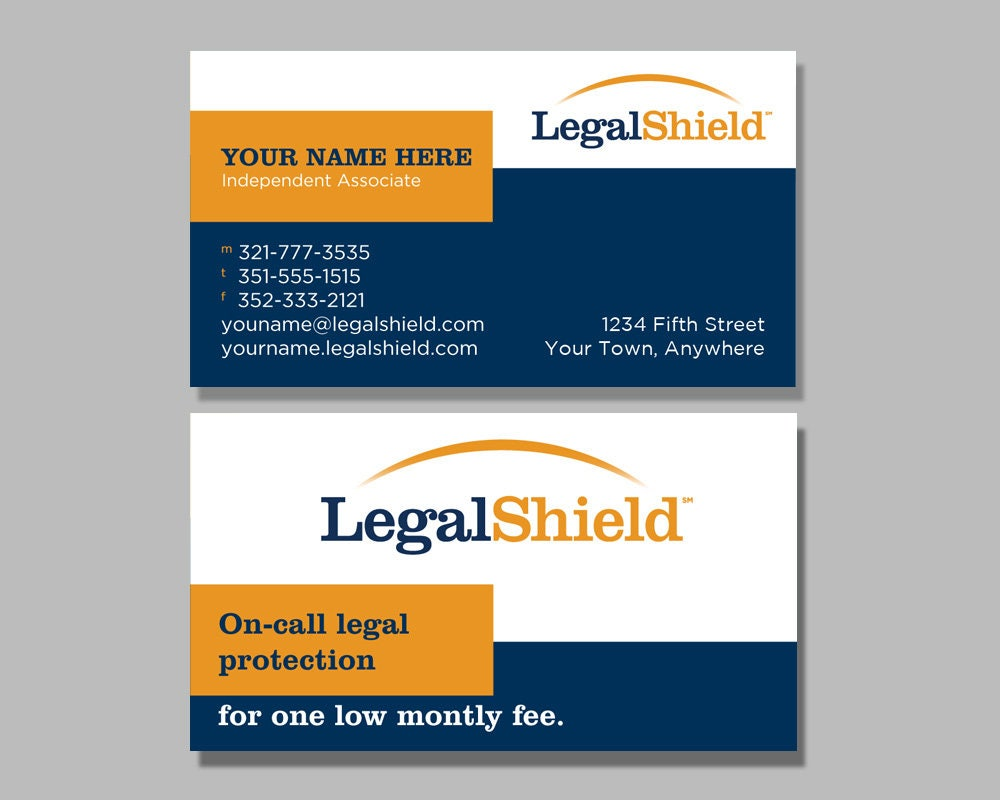 Legal Shield Business Card Design 1
