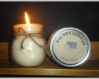 Chai Tea 8 oz soy candle, soy wax candle, beverage scented candle