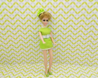 Jessica short hair  doll  wearing Common Mini  fashion Outfit fits 6.5 inch dolls Topper Dawn Angie Glori Jessica