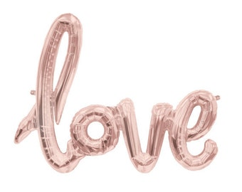 LOVE script balloons-Bridal Shower Balloon Banner, LOVE Banner, Wedding, Valentines Day Decoration
