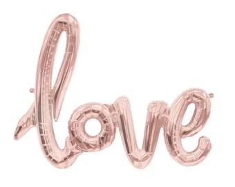 Liebe Skript Ballons-Bridal Shower Ballon Banner, Liebe Banner, Hochzeit, Valentinstag Dekoration