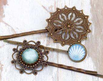 Hairpin Set - Art Deco ** Set of 3 hairpins