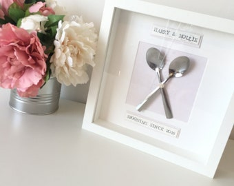 Spponing frame, wedding gift, anniversary gift, Valentine's Day gift, new home gift, engagement present, couples gift