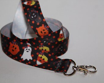 Novelty Lanyard, Ribbon Lanyard, Lanyard, ID Badge and Key Holder, Fashion Lanyard, Fun Lanyard, Halloween Lanyard,