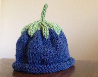 BERRY - Hand Knitted Baby Beanie / Hat (Newborn to 12 months)