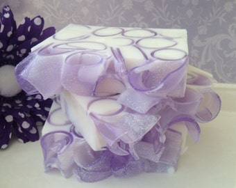 Lavender Curl Soap - handcrafted glycerin soap