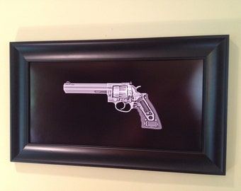 Ruger GP100 Revolver print  - ready to frame