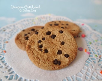 FAUX Chocolate Chip Cookie Set Fake Fake Food