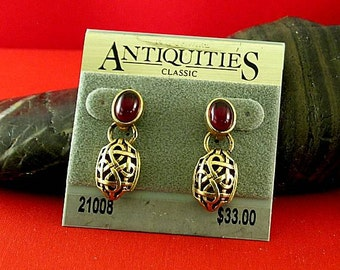 Antiquities Garnet Earrings - Elizabethan Renaissance - Victorian