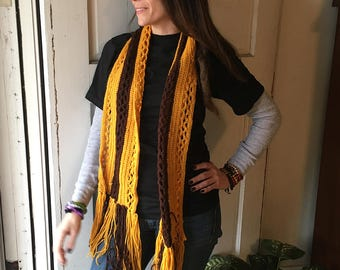 Yellow & brown scarf