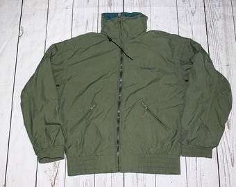 Sale!! Sale!! Timberland Jacket with Big Patches on Arm Double Colour Rare bBLb4