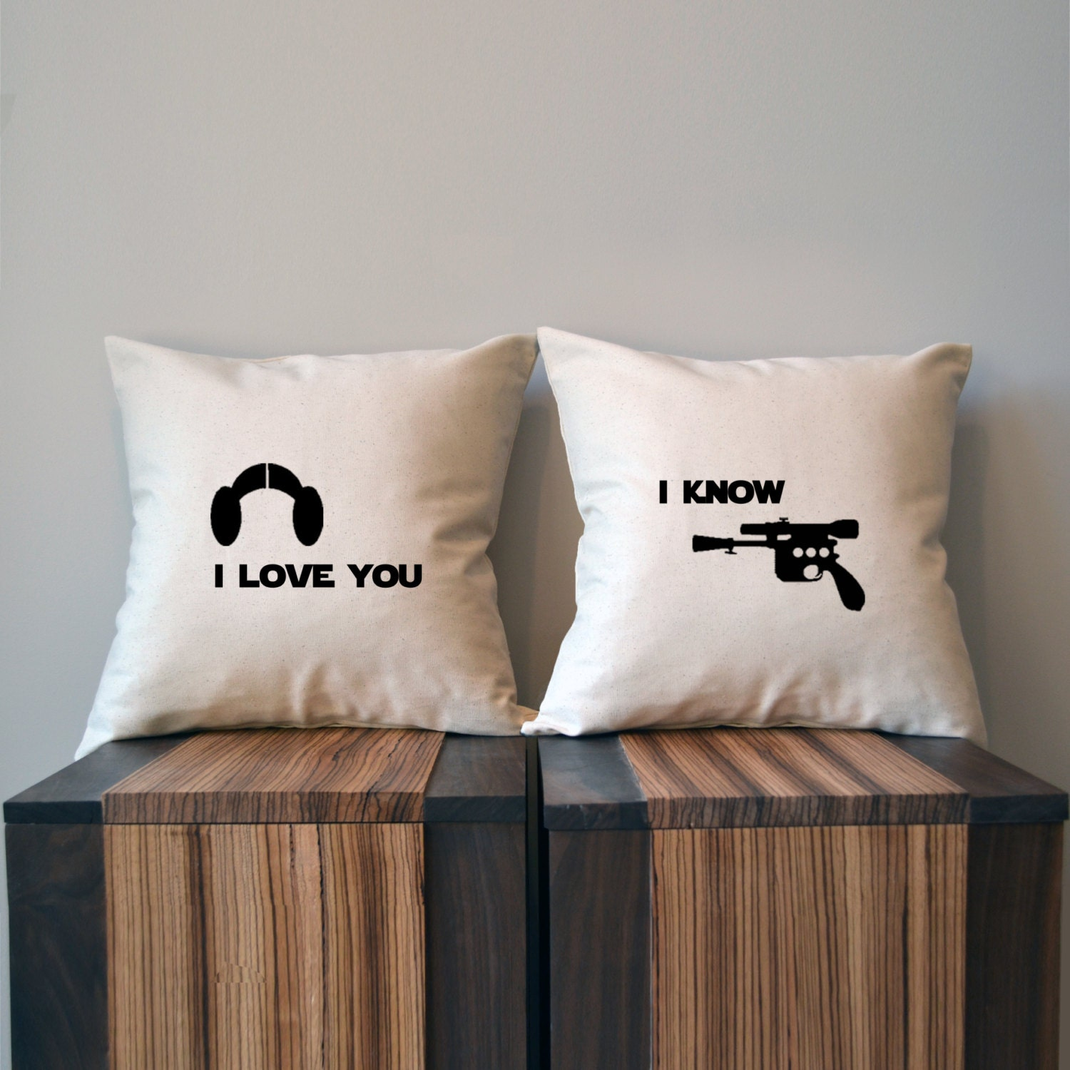 I love you I know Star Wars Pillow Cover Set Luke and Leia