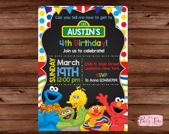Elmo invitation Etsy