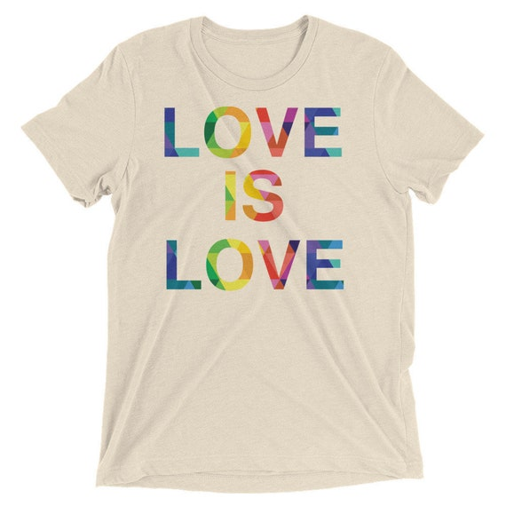 Short sleeve t-shirt Love is Love and Love Wins Special Edition! Love is Love Rainbow Pride Tshirt Gay Lesbian Tees LGBT Equality Apparel Lo