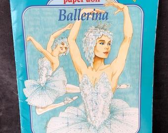 Vintage ballerina uncut paper doll booklet by Golden