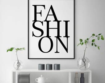 Wonderful Fashion Poster, Fashion Printable, Fashion Bedroom Art, Printable Fashion,  Makeup Wall Art