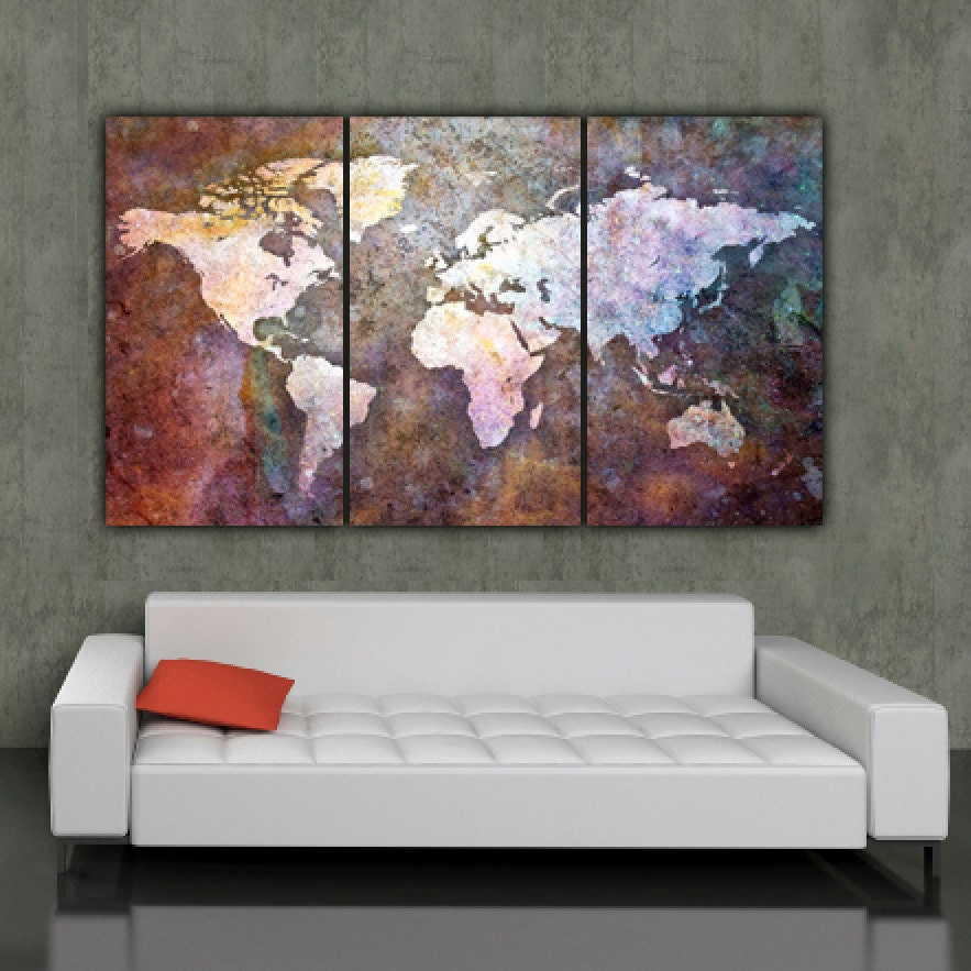 Large world map canvas geccetackletarts large world map canvas gumiabroncs Choice Image