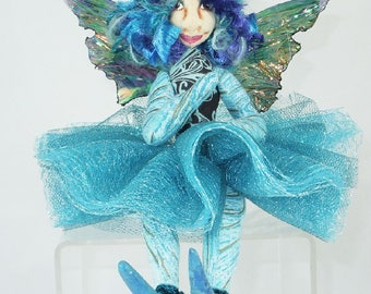 Art Doll-Piccadilly the Sprite OOAK Cloth Doll Faery