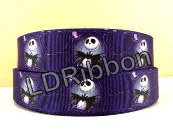 """1"""" Skeleton Grosgrain Ribbon"""