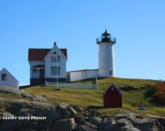 5 x 7 Greeting Card with Envelope - Nubble Light, Cape Neddick, Maine