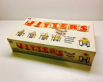 """Vintage Jitters Game, """"It's Enough To Make Anybody Crazy"""" By Milton Bradley 1986"""