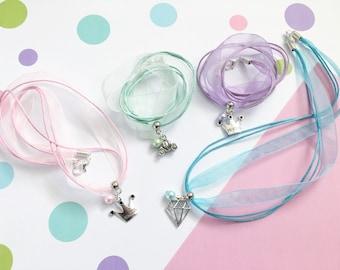 Princess Necklace, Party Bag Filler, Girl Party Favor, Birthday Favors, Party Favors, Loot Bag Filler, Princess Jewellery