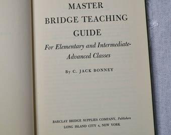 Vintage Book Master Bridge Teaching Guide by C Jack Bonney Card Game Instructional PanchosPorch