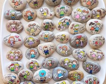 Inspirational gifts, Affirmation Stones, wedding favors, painted rocks, painted rock, Affirmation Stones, Inspirational Message Stones
