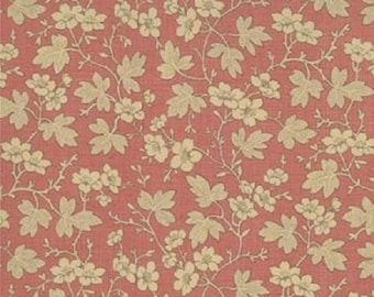 French General Floral Cornouille Red 1/2 yd. cuts