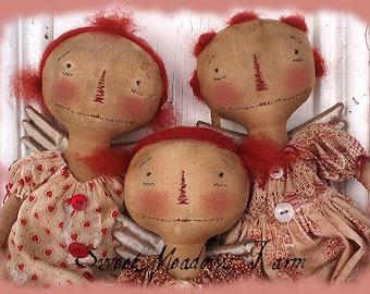 Primitive Angel Dolls E-pattern Annie Angels