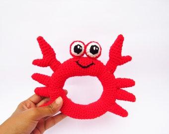 Baby rattle crochet pattern - DIY baby toy tutorial - Amigurumi baby toy patten - Baby shower gift - New baby gift - toy crochet pattern
