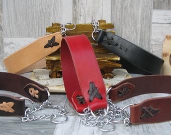 Martingale Dog Collar, Colorful Dog Collar, No Pull Dog Collar, Chain Dog Collar, Handmade Dog Collar, Half Choke Collar, Durable Dog Collar