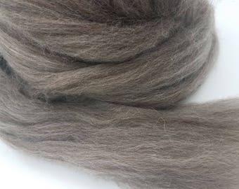 1 pound Brown BFL combed top, roving, spinning fiber, felting fiber, fiber