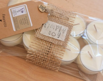 Soy Tea Lights, All Natural, Highly Fragranced, Many Scents, in 2 or 8 Countt, Gift Packaged, 1 or 4 Ounces, Premium Cups, Even Burning