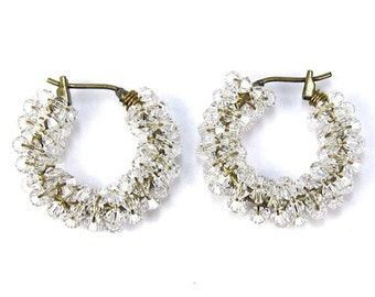 Swarovski Hoop Earrings, Crystal Swarovski Hoops