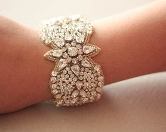 Wedding Statement Bracelet   - Jill Gold   (Made to Order)