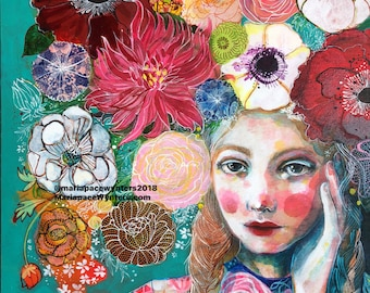 Uplift Her Spirit -ACEO  Open edition reproduction by Maria Pace-Wynters