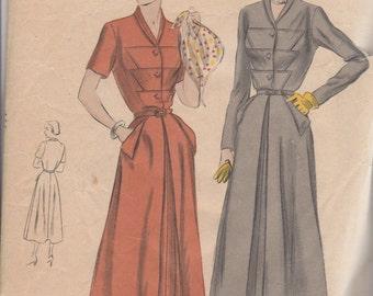 Bust 34-RARE 1950's Misses' Dress Vogue 6748 Sz 16