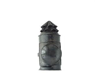 Antique Lantern Bullseye Lens Police 1800s Kerosene Lanterns Handheld Wall Tin Signal Military Black Lanterns Rustic Decor CabinFREESHIPPING