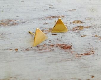 Dainty Triangle earrings,geometric earrings,gold studs,simple earrings,triangle earrings,minimalist, silver studs,gold earrings-20078