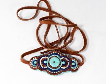 Southwest Jewelry, Western Leather Wrap Bracelet, Cowgirl Bohemian Leather Wrap