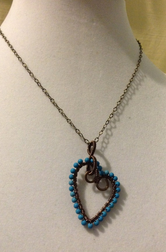 Blue Howlite Handcrafted Pendant Necklace N6151717
