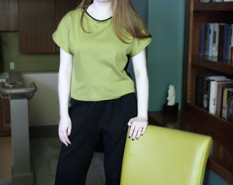 Lime and Black Top - Plain and Fancy