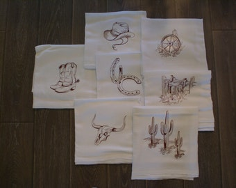 Western Dish Towels (Singles) - Made to Order