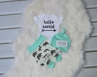 Hello world, coming home outfit boy, newborn boy photo outfit, newborn coming home outfit, take home outfit boy, newborn boy coming home