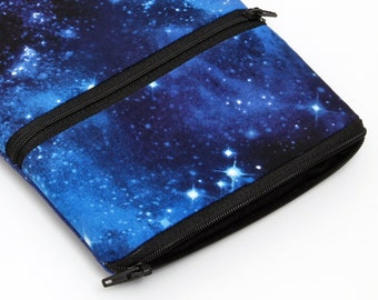 iPad Pro 9.7 Case, Kindle Fire 7 Sleeve, Galaxy Tab S2, Kobo Glo Pouch, iPad Air Case, Nexus 10, Dell venue 8 7000 - blue galaxy with stars